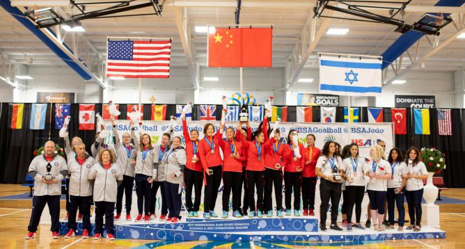 News Article Featured Image: Women's Team USA Goalball Team Brings Home Silver in front of Full House at Turnstone