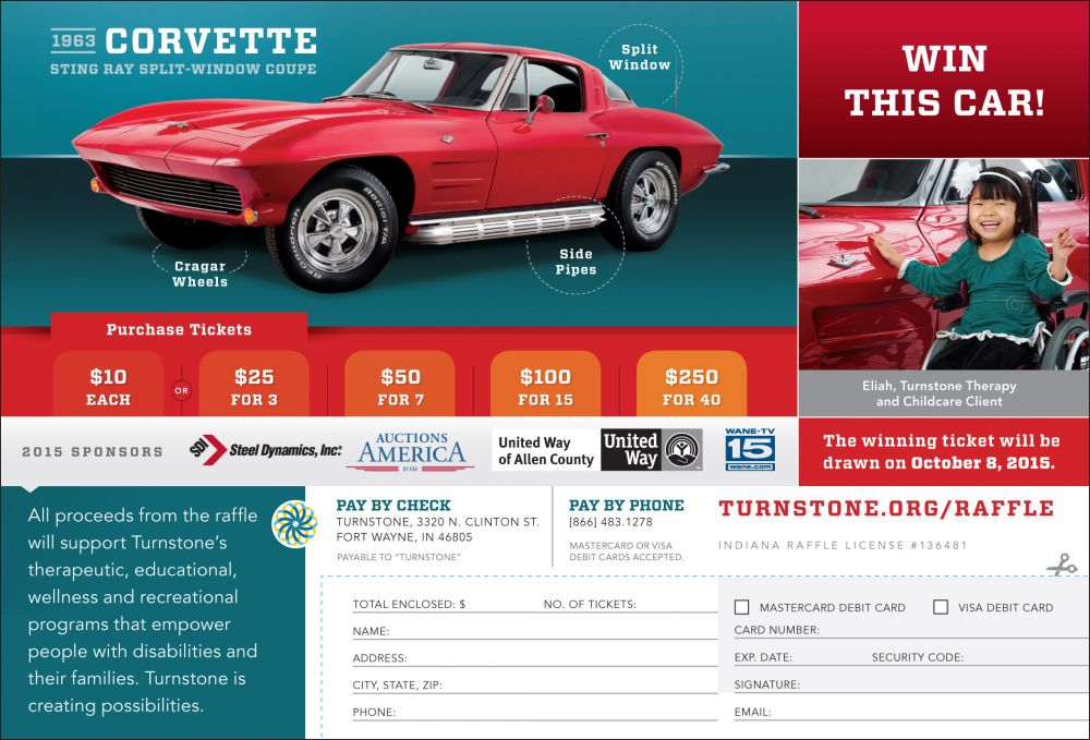 corvette ad with form