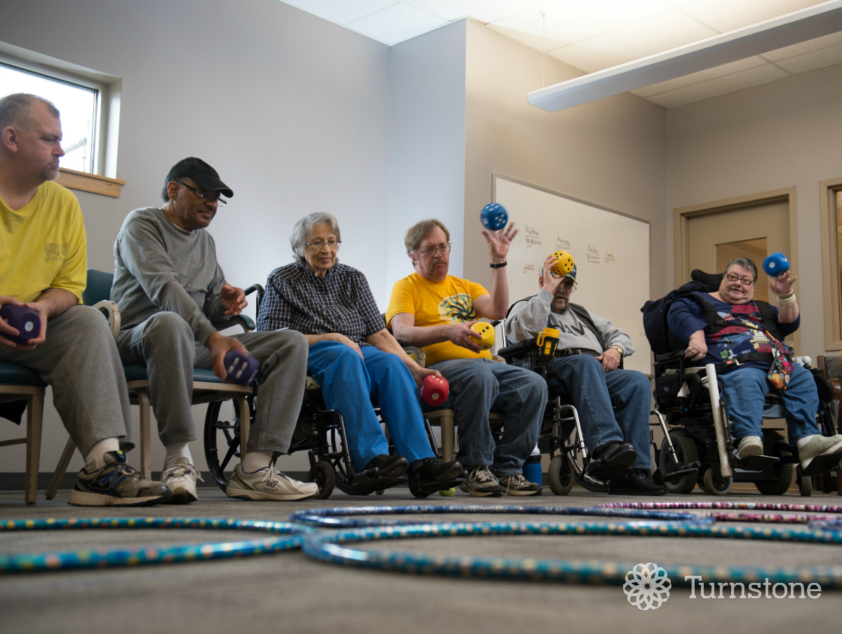 Adult day services at turnstone serves adults with a physical disability who need assistance with daily tasks